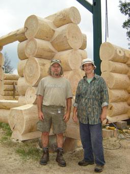sculpture bois rond